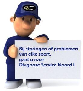 Bij auto storingen of problemen van elke soort, gaat u naar Diagnose Service Noord